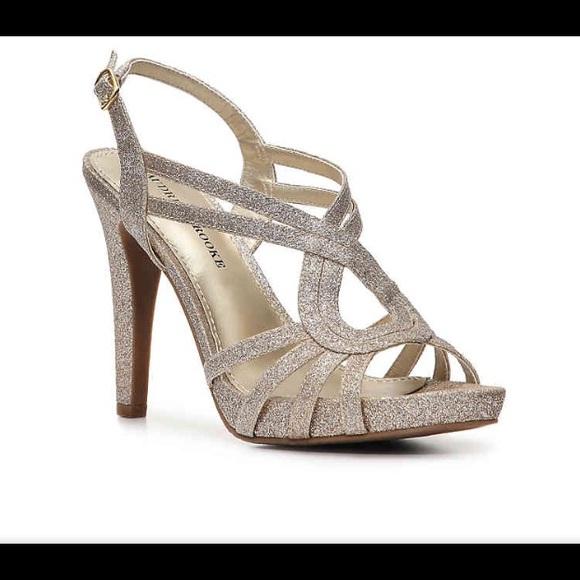 Audrey Brooke Shoes - 🆕 Audrey Brooke Champagne Glitter Heels 🤩 8e92ed26a3d0